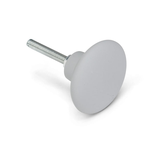 Grey Rubberized Knob