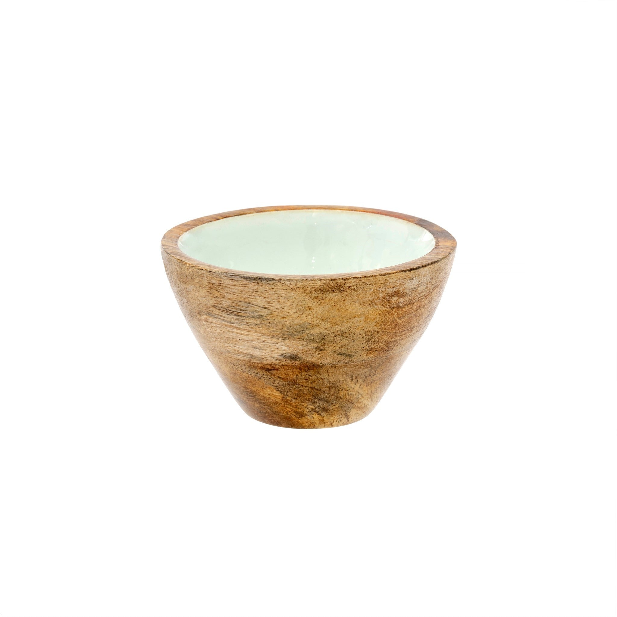 Wood & Enamel Bowl S, Mint