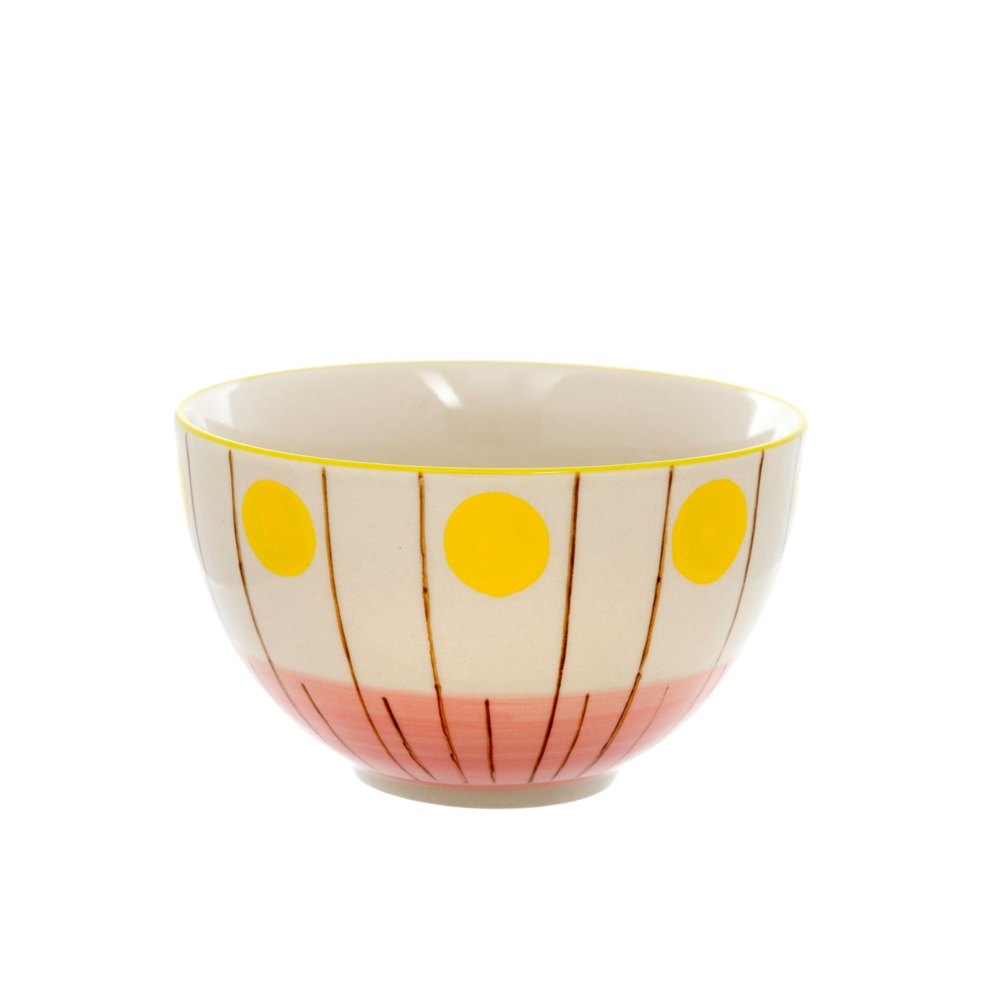Lucia Bowl - Yellow Dots