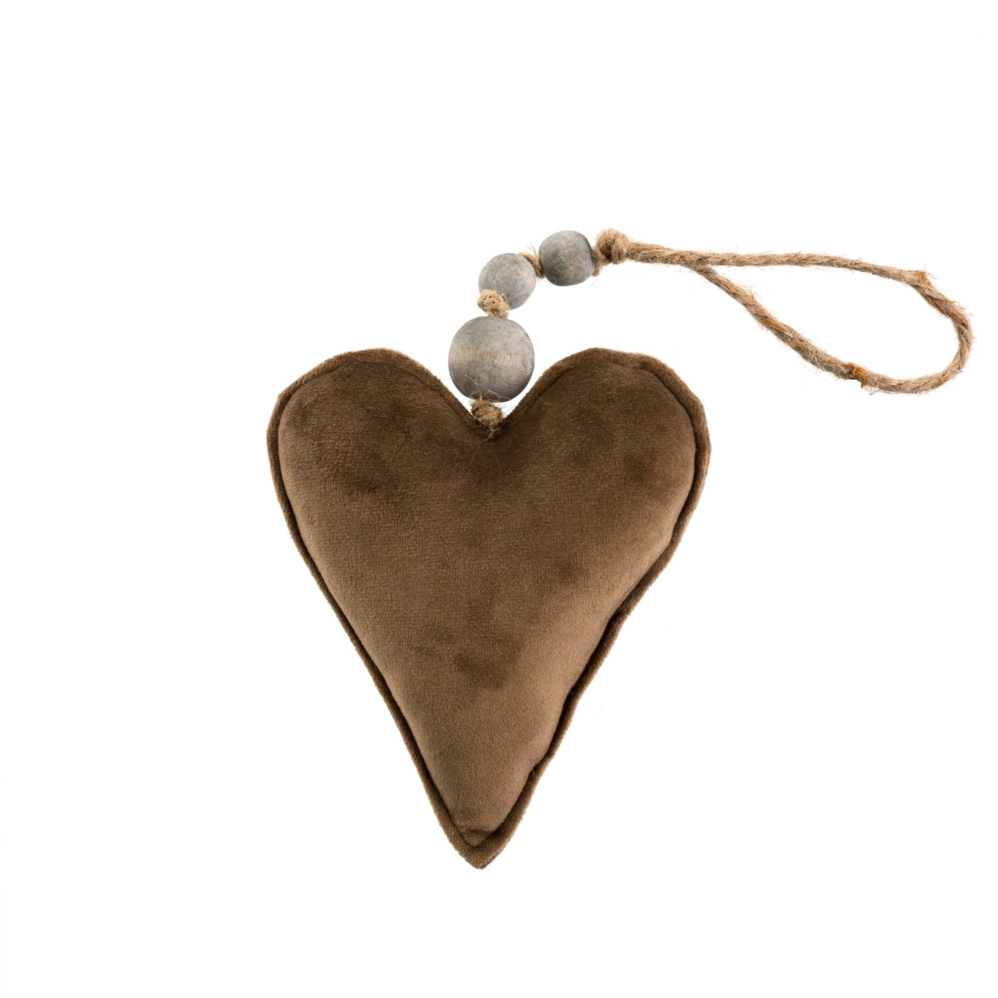 Brown Velvet Heart Ornament