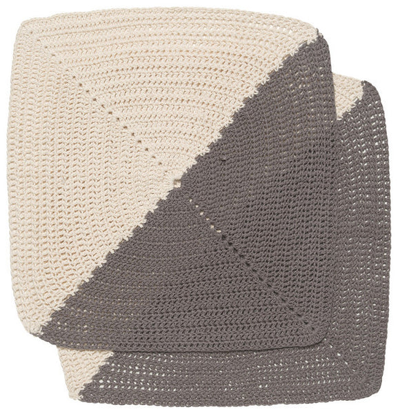 Angle Dish Cloths - Set of 2 - Granite