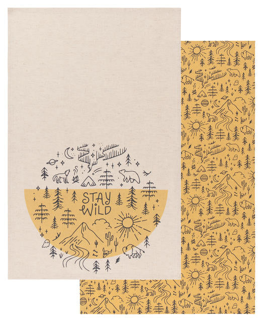 Stay Wild Tea Towel Set