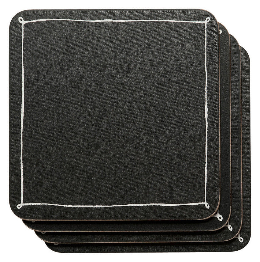 Black Board Coasters