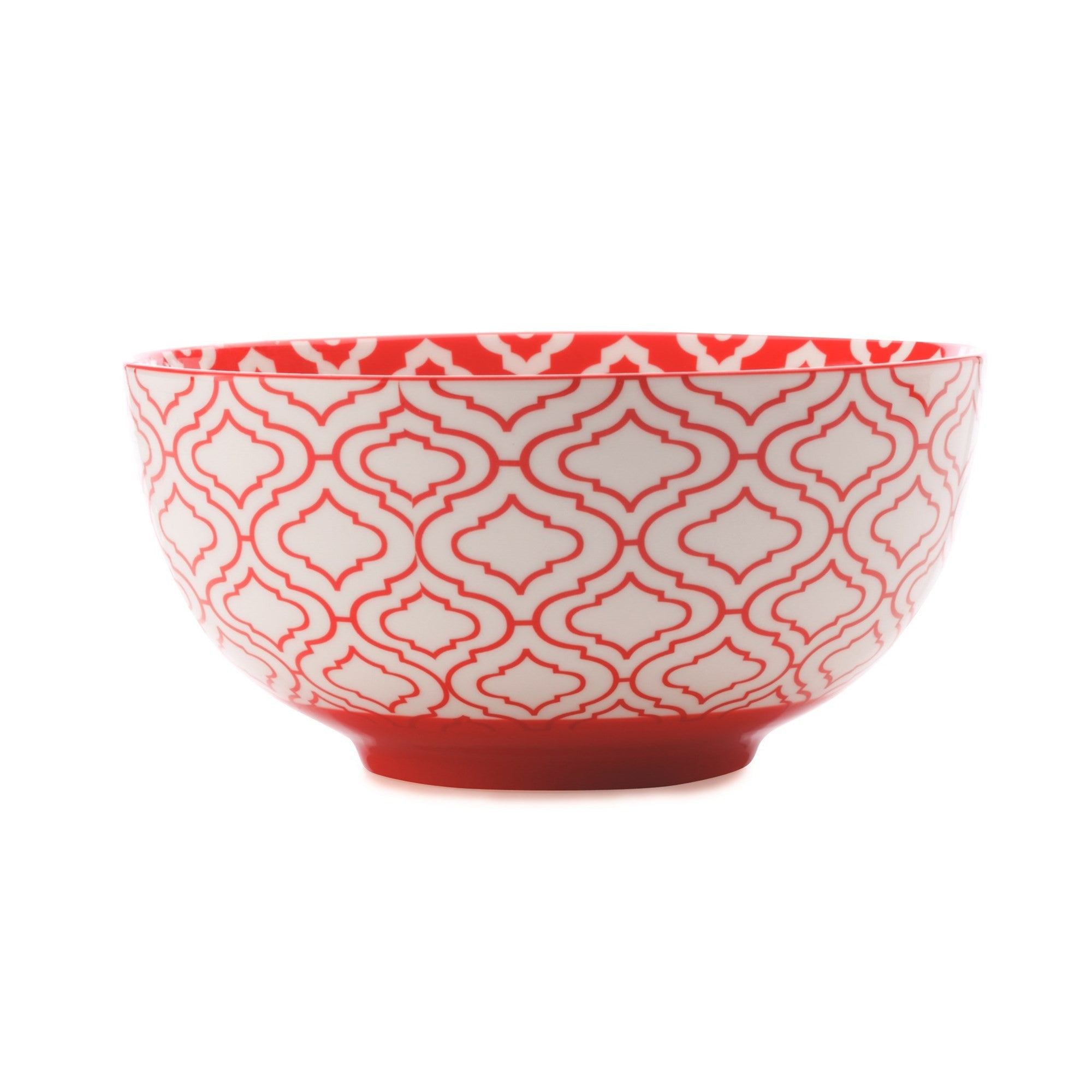 Red Patterned Bowl Large