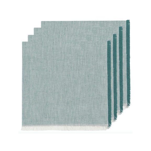 Chambray Napkins Set of 4 - Lagoon