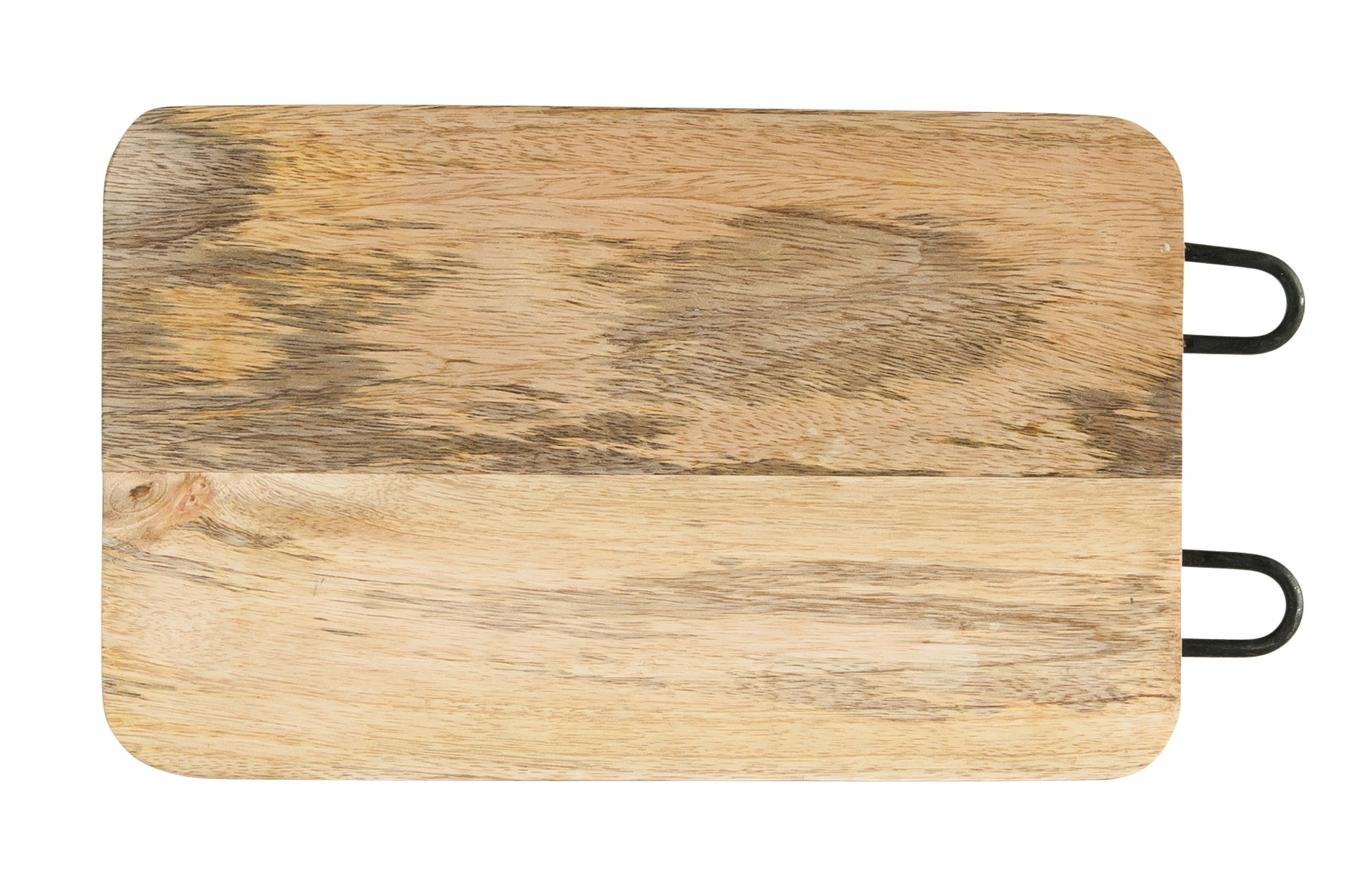 Mango Wood With Metal Cutting Board - Large