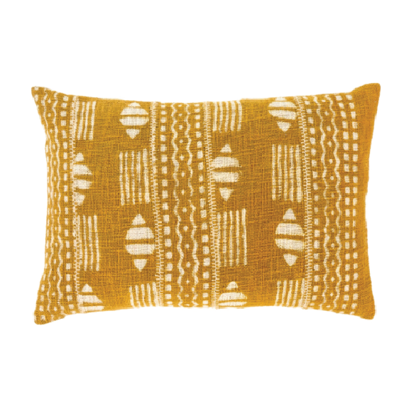 Dabu Chartreuse Pillow 16x24