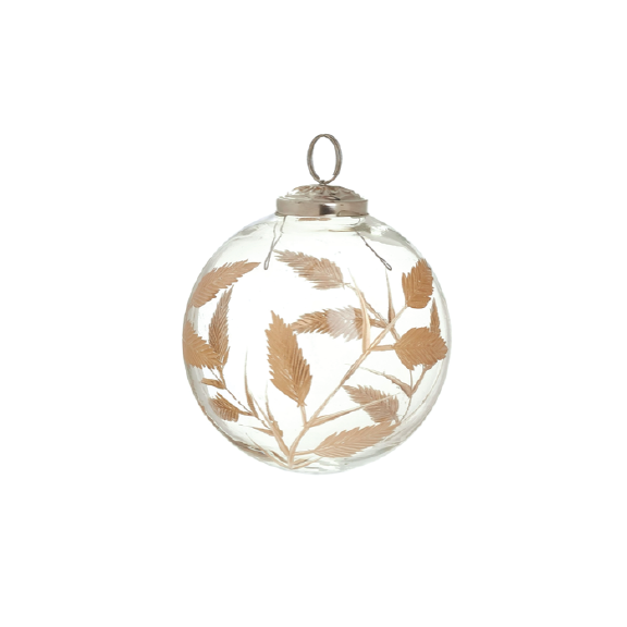 Etched Glass Ornament