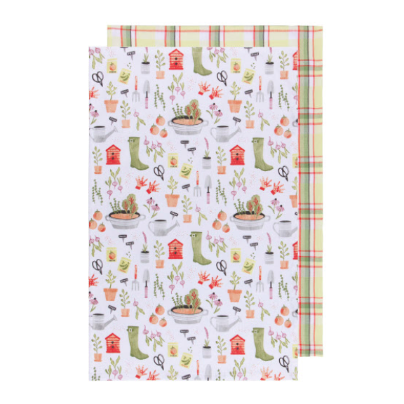 Garden Tea Towel Set/2