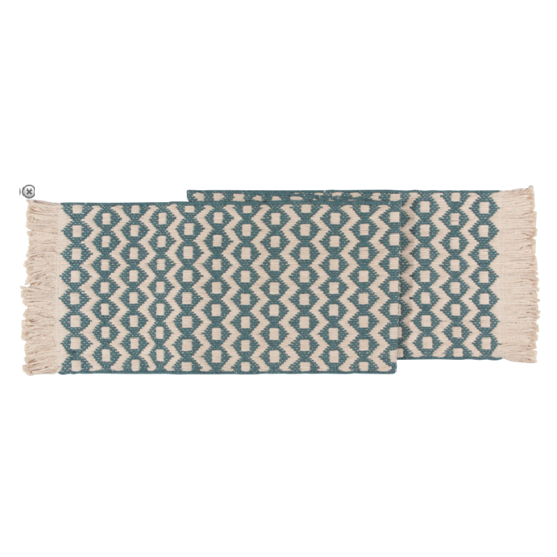 Heirloom Sullivan Table Runner - Lagoon