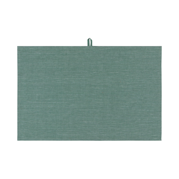 Linen Heirloom Tea Towel - Jade