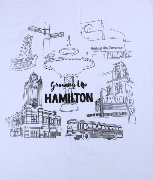 Growing Up Hamilton Tea Towel
