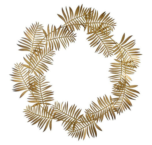 Iron Frond Leaf Wreath
