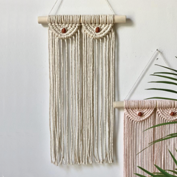 Macrame Boobs Wall Hanging - Ivory