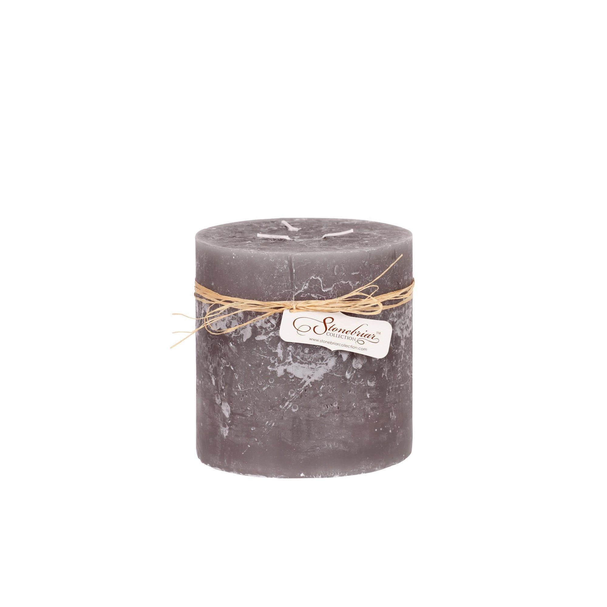 Large Grey Candle 3 Wicks