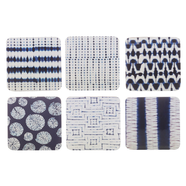 Shibori Coasters Set of 6