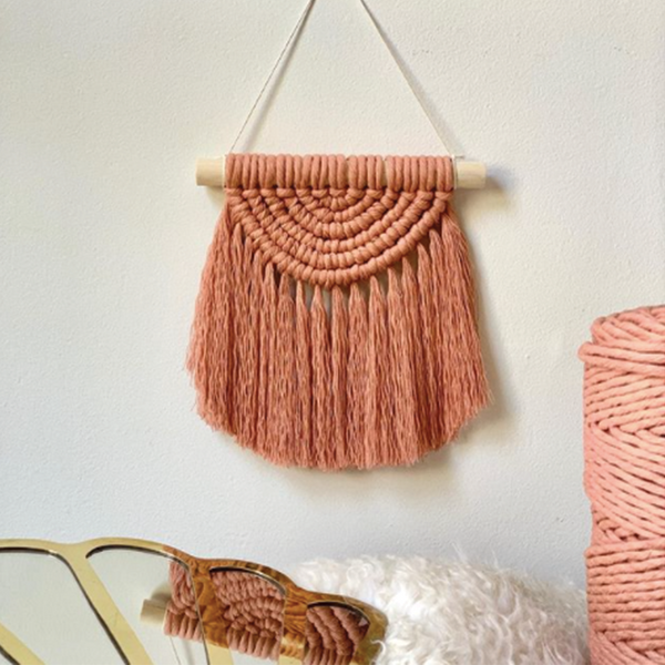 Mini Rainbow Wall Hanging - Dusty Rose
