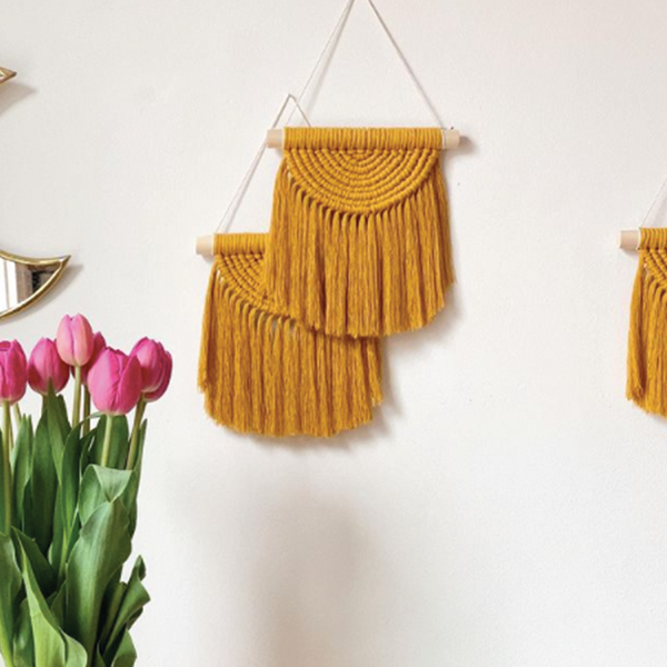 Mini Rainbow Wall Hanging - Mustard