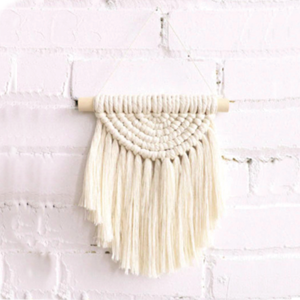 Mini Rainbow Wall Hanging - Natural