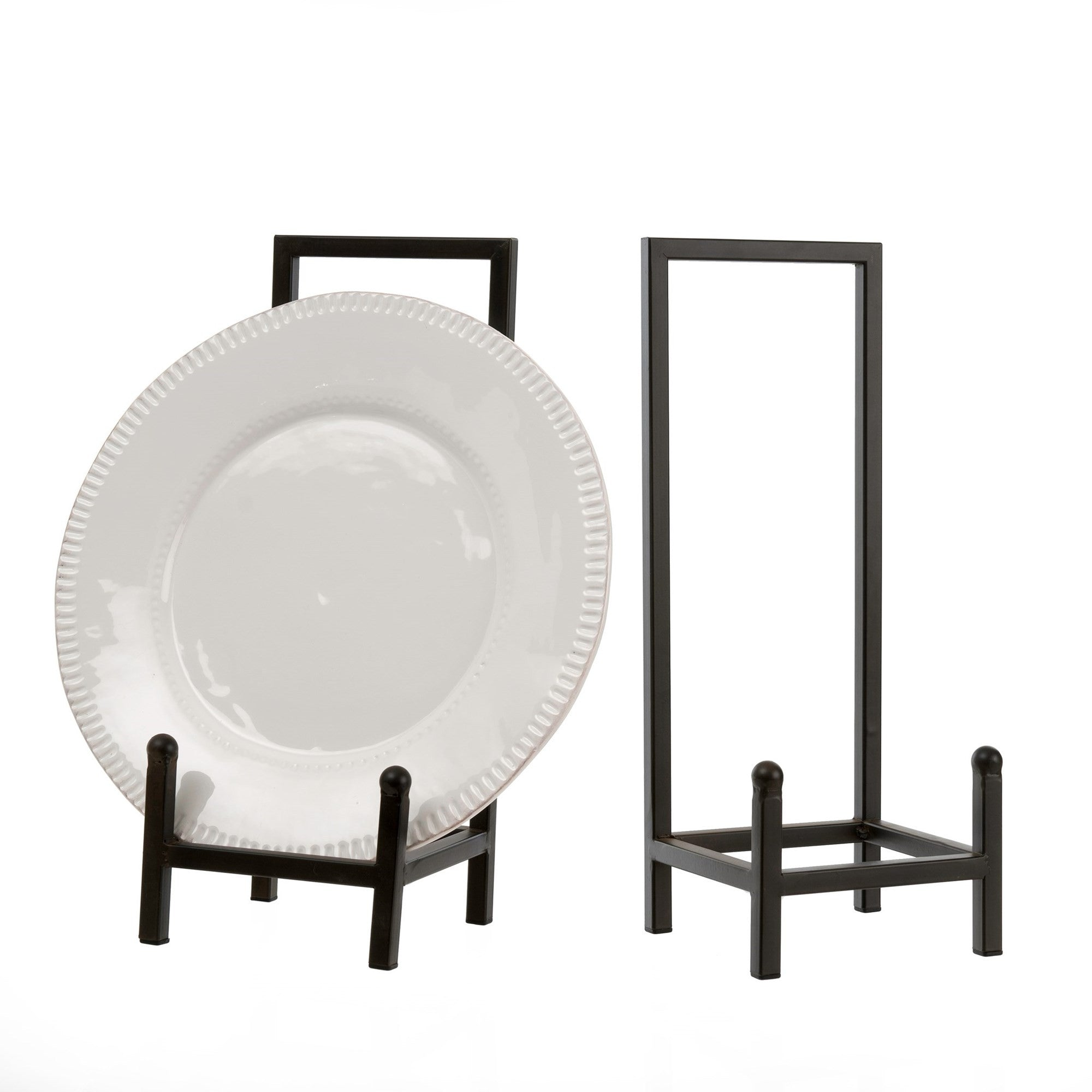 Mount antique plates funky frames or prized pieces with sleek and simple metal stands. L 6.25\  W 6\  H 16\   sc 1 st  Pretty Grit & Plate Stand \u2013 Pretty Grit