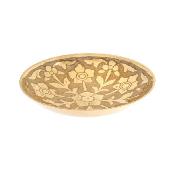 Primrose Brass Decor Bowl L