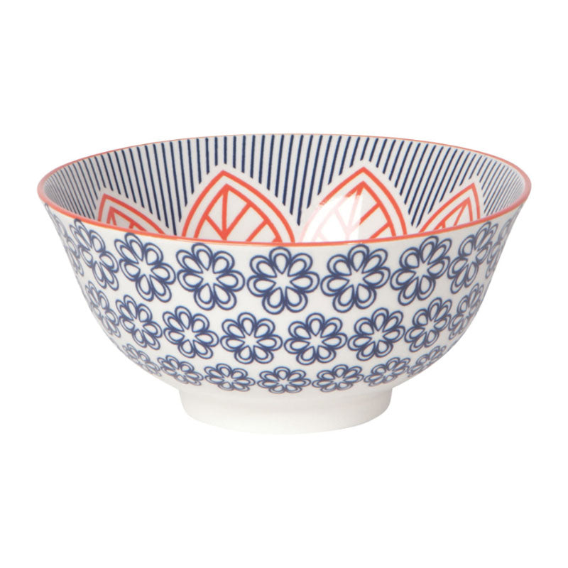 Red Floral Bowl 6inch