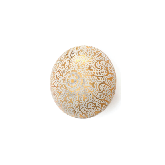 Round Etched Floral Knob
