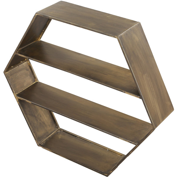 Falkner Hexagonal Wall Shelf