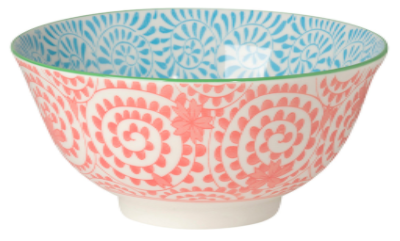 Coral Stamped Bowl