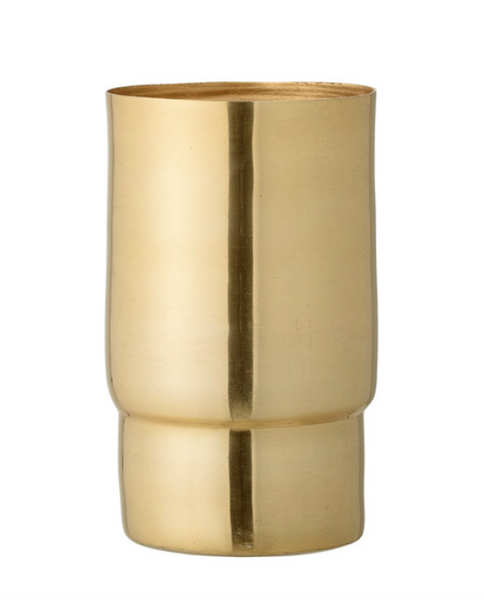 Aluminum Vase with Gold Finish