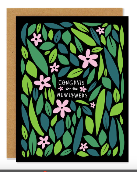 Wild Flower Newlyweds Card