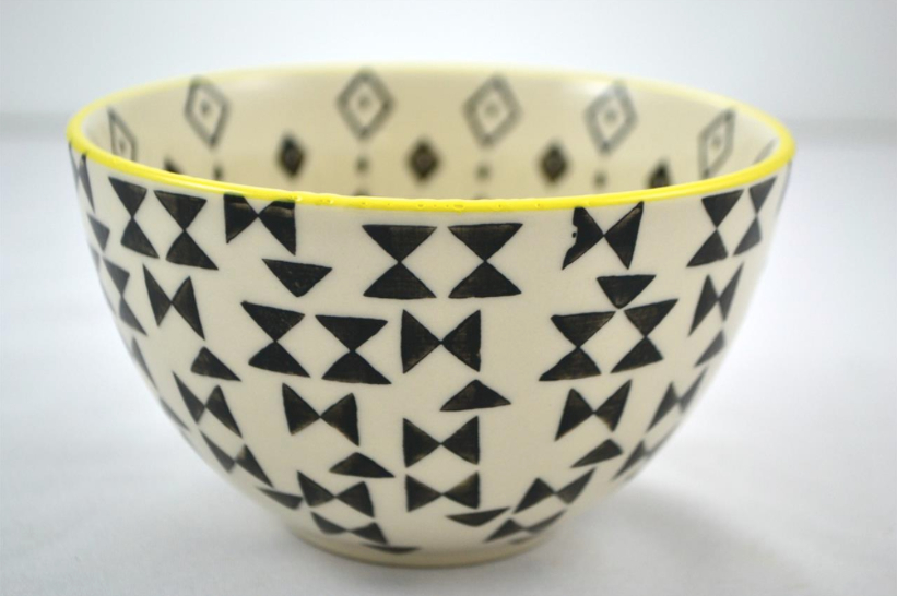 Black + White Triangle Bowl