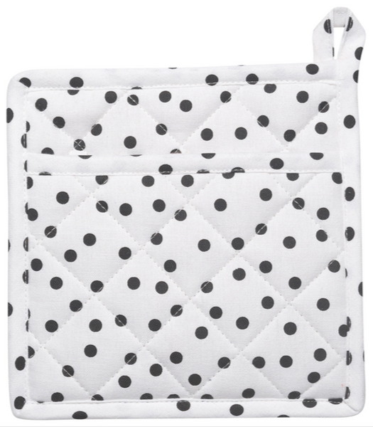 Black + White Pot Holder