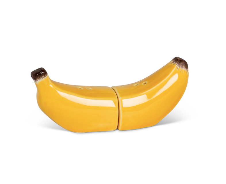 Magnetic Banana Salt + Pepper Shaker