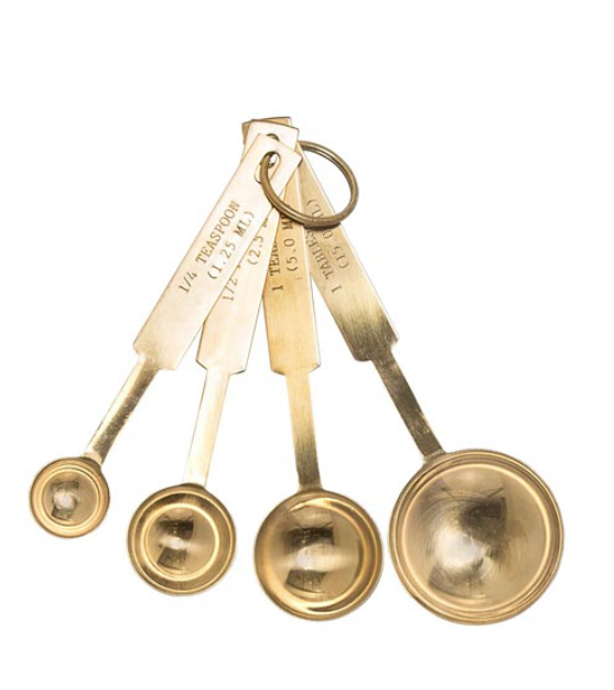 Gold Finish Measuring Spoons