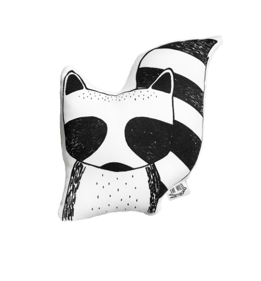 Rocky the Raccoon Soft Toy Pillow
