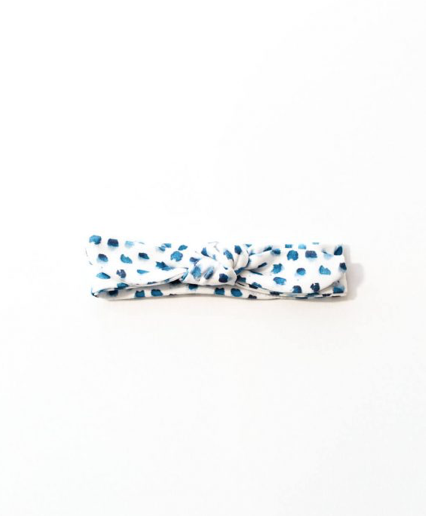 Indigo Dot Knotted Headband