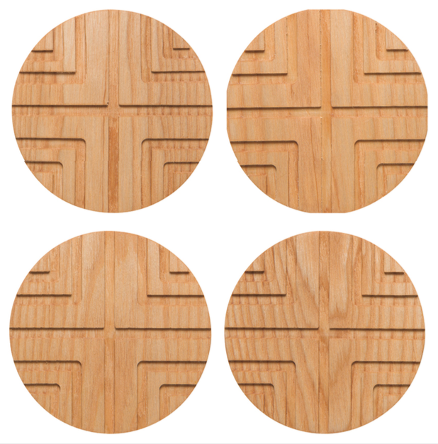 Geo Cross Coasters Set/4