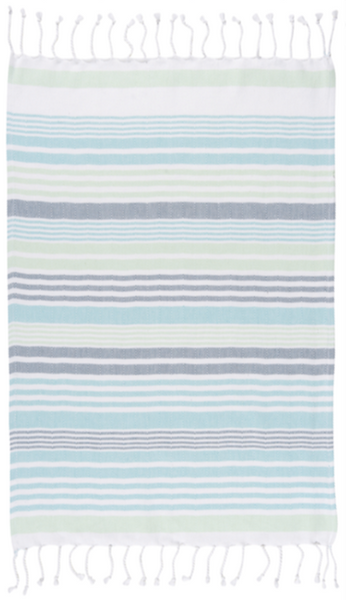 Hammam Mint Stripe Hand Towel