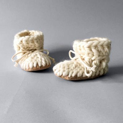 Ivory Baby Slippers