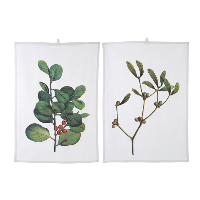 Holiday Tea Towels S/2