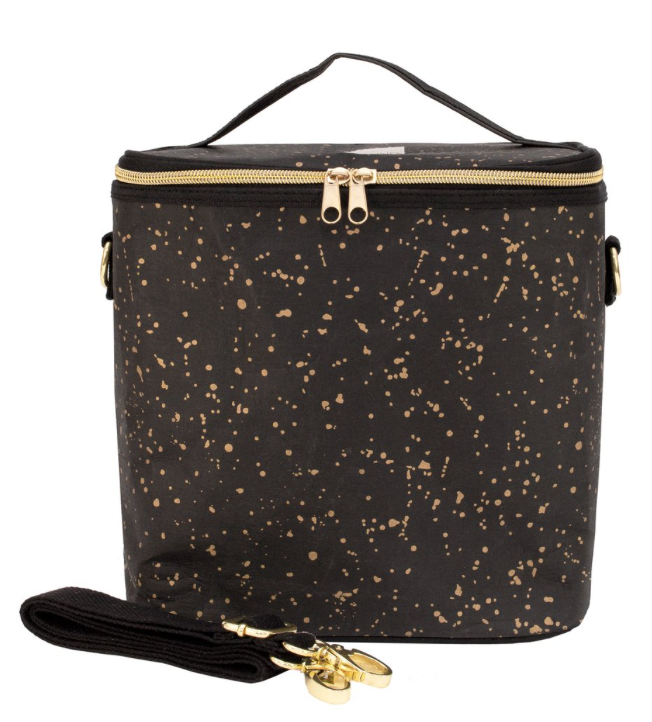 Black Paper - Gold Splatter Lunch Poche