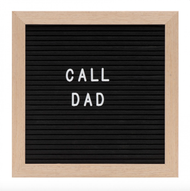 Small Felt Letter Board - Black