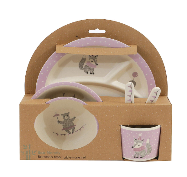 Join the Circus Bamboo Dish Set