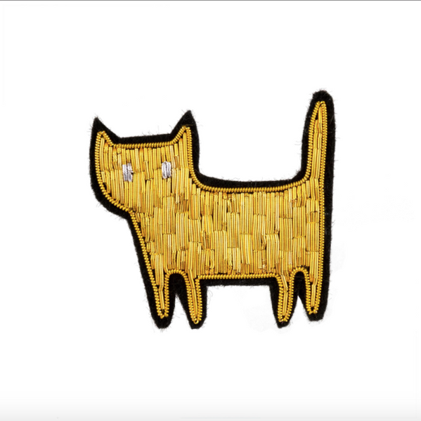 Gilded Cat Patch Pin