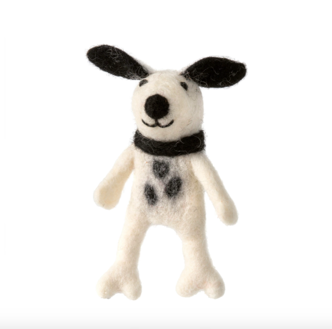 Spotty Dog Finger Puppet