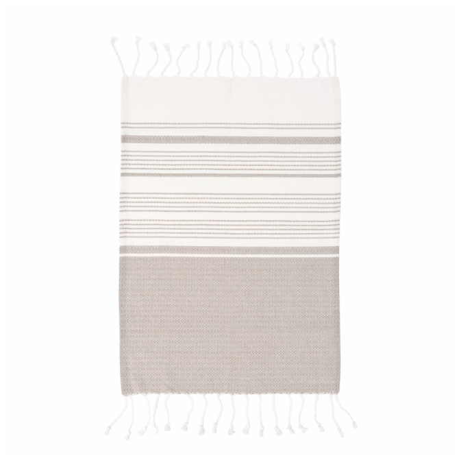 Turkish Hand Towel, Grey