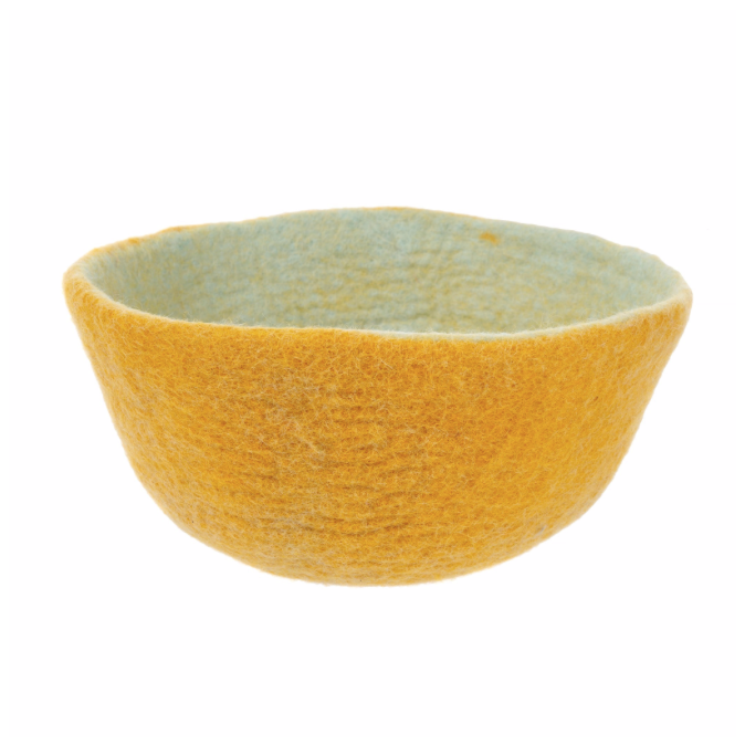 Fair Trade Felt Bowl, Citrus