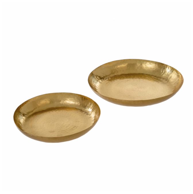Thali Hammered Trays S, Gold