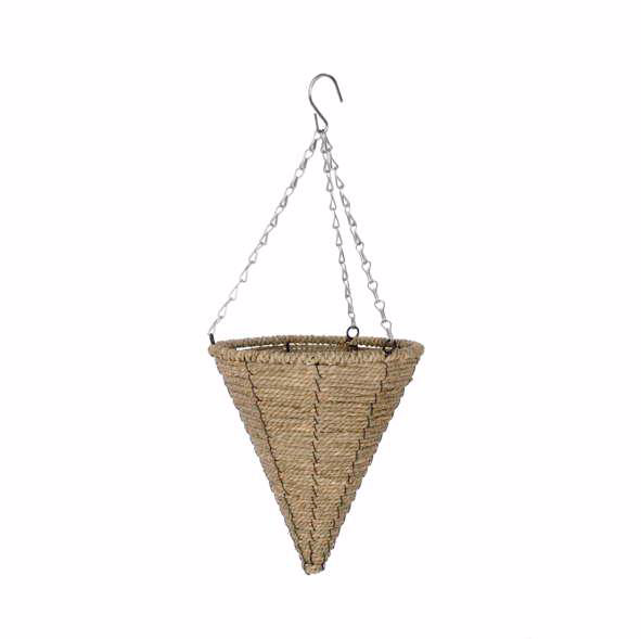 Natural Cone Hanging Planter